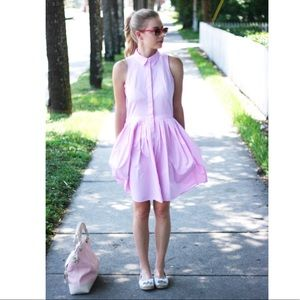 Ann Taylor Dresses - Ann Taylor NWT Pink Pleated Shirt dress Sz 0